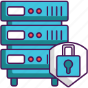 cyber, hosting, protection, safety, security, server icon