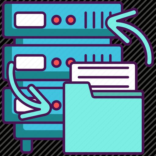 backup, backup data, data, data backup icon