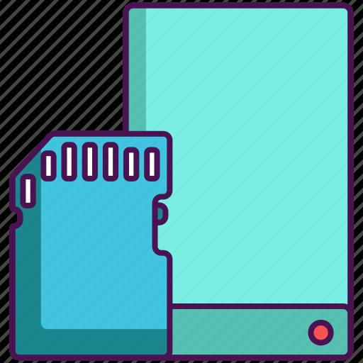 data, data storage, storage icon
