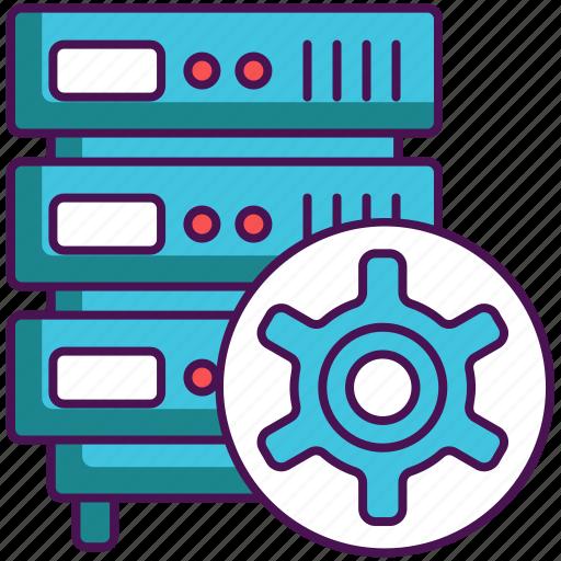 database, hosting, management, server icon