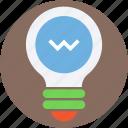 led bulb, bulb, light bulb, electric light, luminaire icon