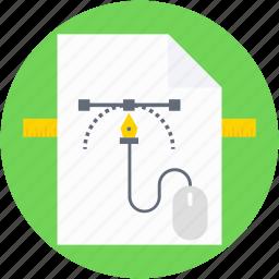 art paper, design file, graphic designing, graphic editor, pen tool icon