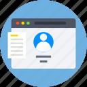 profile, profile popup, user, user details, web profile