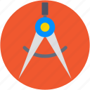 compass, compass tool, drawing, geometry, geometry tool icon