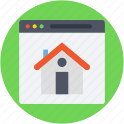 e commerce, home, online property, online real estate, website icon