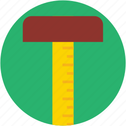 carpenter tool, measure tool, ruler, set square, t square icon