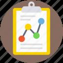 business report, clipboard, financial report, graph paper, graph report