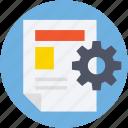 file, file preferences, file setting, gear, processing file