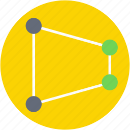 connections, design, links, shape, structure icon