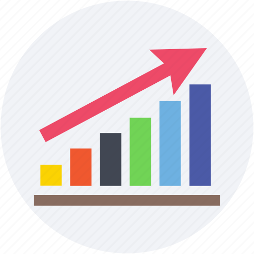 bar chart, bar graph, business graph, business growth, growth chart icon