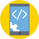 div, mobile development, mobile preferences, mobile settings, mobile tools icon
