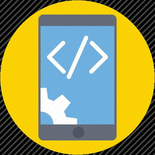 div, mobile development, mobile preferences, mobile settings, mobile tools icon