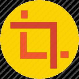 crop, crop tool, designing tool, graphic editor, photoshop tool icon