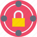 digital lock, lock, padlock, security, security system icon