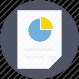 chart sheet, graph chart, graph report, graph sheet, pie graph icon