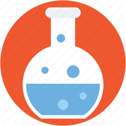 chemical flask, chemistry, conical flask, flask, laboratory icon
