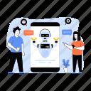 robot chat, robot assistant, chatbot, crawler, bot