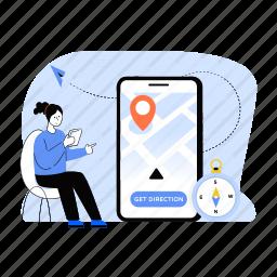 mobile location, gps navigation, phone location, gps, compass