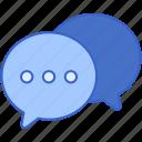 bubbles, chat, message