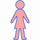 female, sign, woman