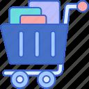 cart, full, shopping