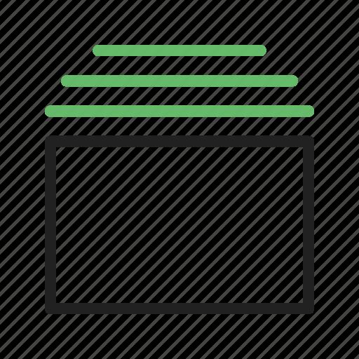 bar, box, interface, tabs, template, web, website icon