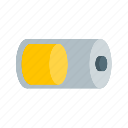 battery, energy, half, power, screen, sign, web icon