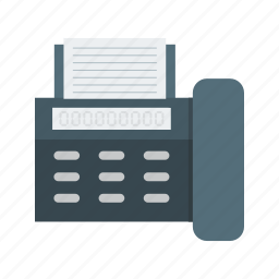 connection, data, fax, information, machine, send, transfer icon