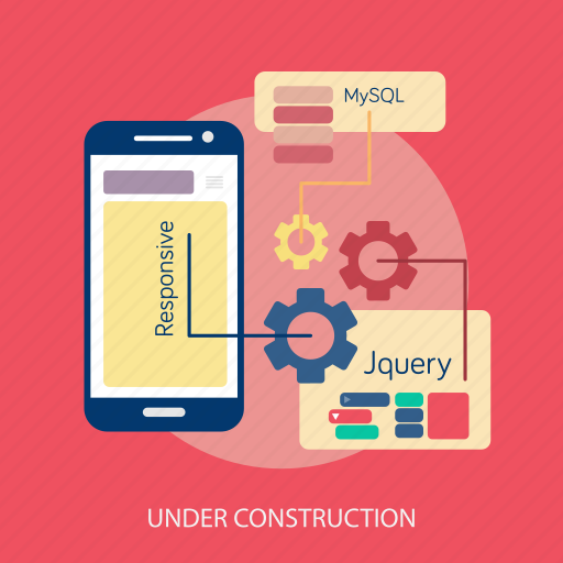 maintenance, online, process, setting, under construction, web icon
