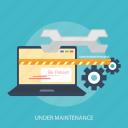 laptop, online, process, setting, under maintenance, update, web
