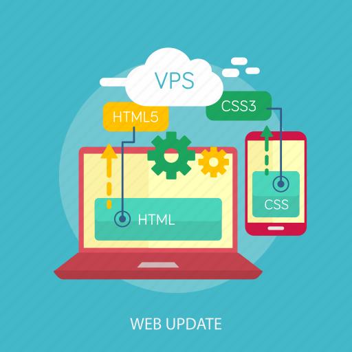 handphone, laptop, maintenance, online, upgrade, web update, website icon