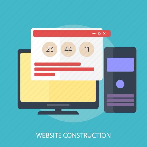 computer, maintenance, repair, update, upgrade, website, website construction icon