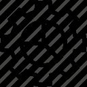 chart, cogwheel, configuration, data, gear, management, setup icon