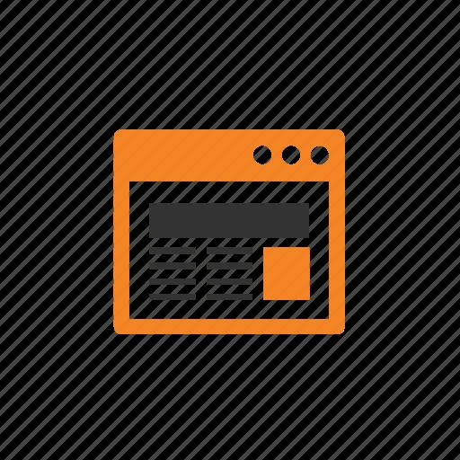 browser, copywriting, layout, marketing, web icon