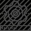 cog wheel, gear, loading, system, updating, upgrade, upgrading icon