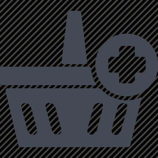 analytics, basket of products, infographics, internet, marketing, оnline icon