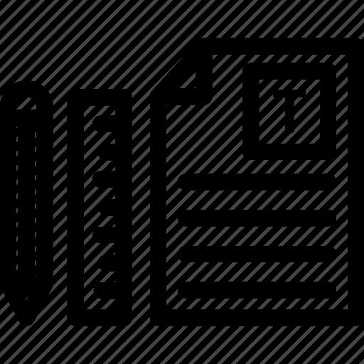 design, document, letter, letterhead, presentation icon