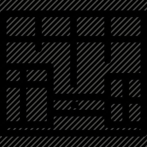 adaptive, fluid, grid, layout, responsive icon