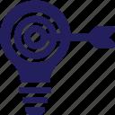 achieve, fulfillment, goals, idea, lightbulb icon