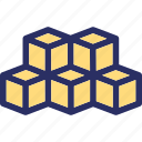 abstract, components, cubes, modules icon