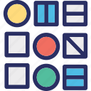 abstract, data, order, pattern, shapes icon