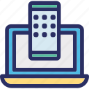 computer, connection, data, mobile, sync icon