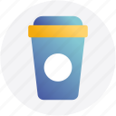 break, coffee, coffee break, covered, disposable, paper cup icon