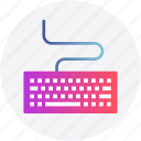 cable, computer, control, device, input, keyboard icon