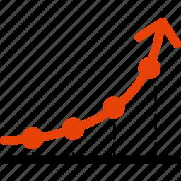 analytics, arrow, graph, paragraph, report, statistics, up icon