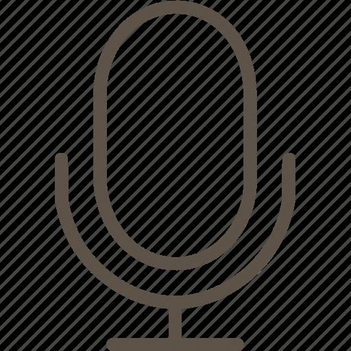 line, microphone, music, ui icon