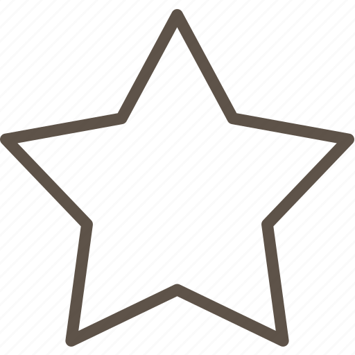 line, star, ui icon