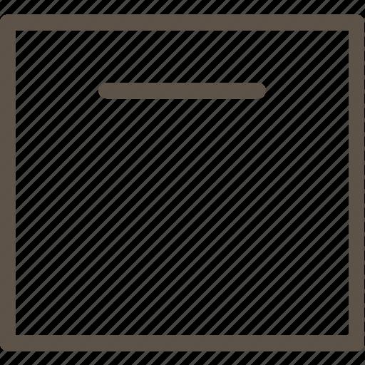 archive, line, square, ui icon