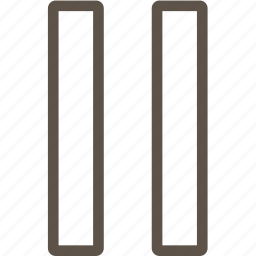 line, pause, ui icon