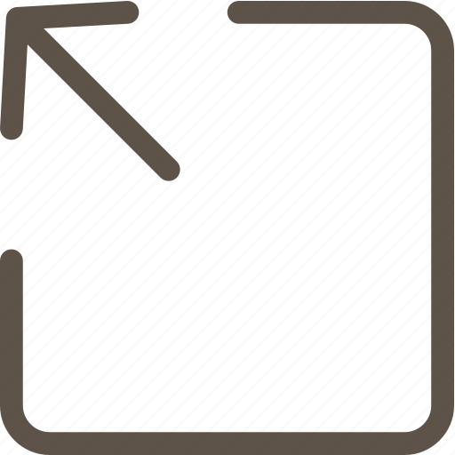 arrow, line, open, ui icon